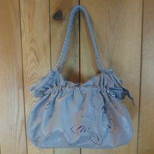 Gray Graphic Floral Bohemian Shoulder Hand Bag